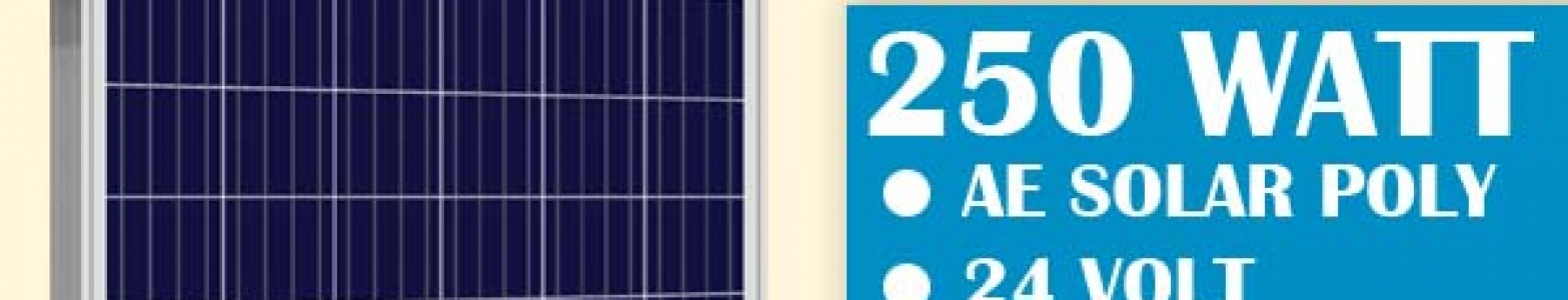 250 Watt Solar Panels Blue - BlueSky Solar & EV Stations